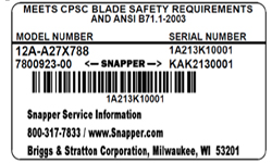 Product Manuals & Parts Lists | Snapper