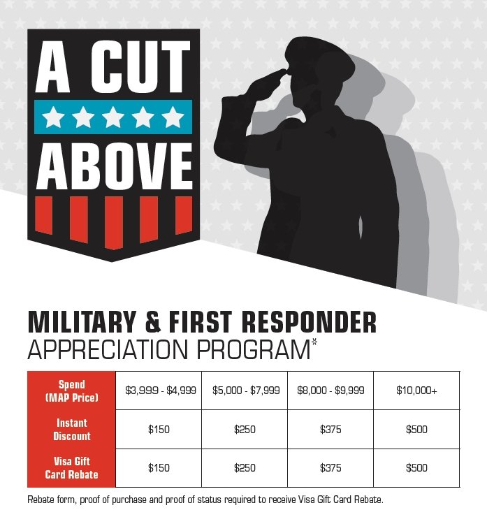 A Cut Above Military and First Responder Appreciation Program