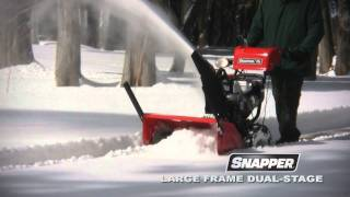 Snapper Large Frame Dual Stage Snow Blower