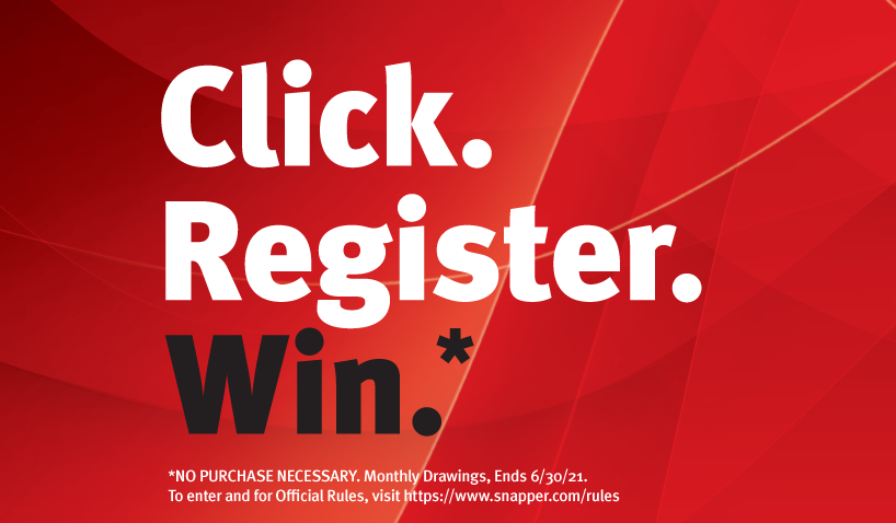Enter into the Click. Register. Win. Sweepstakes