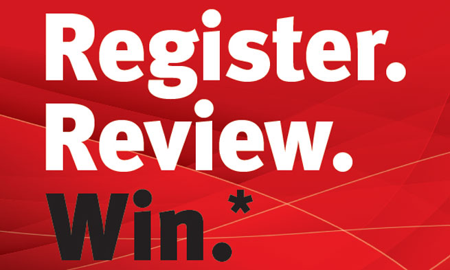 Register.Reivew.Win. Sweepstakes