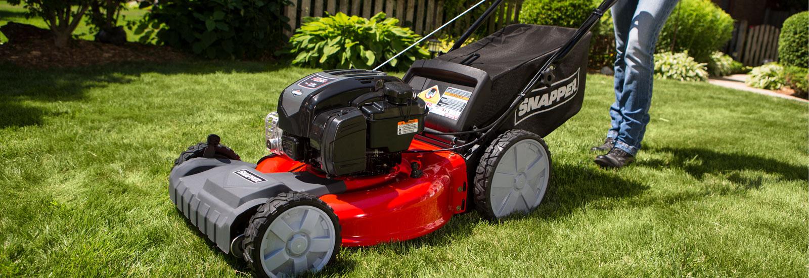 Stand Behind Lawn Mower >> Push Mowers Self Propelled Walk Behind Mowers Snapper