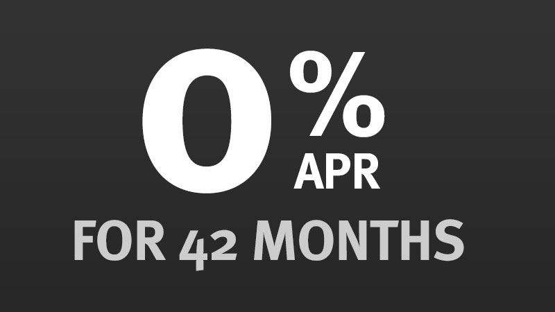 0% APR for 42 Months
