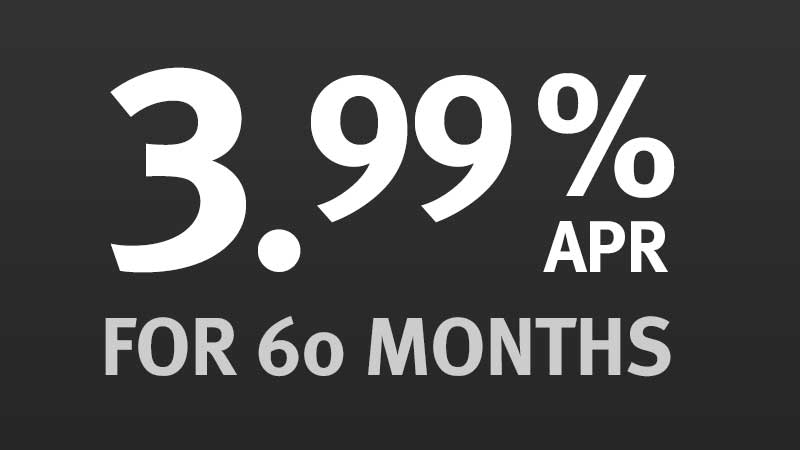 3.99% APR for 60 Months